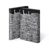 Notitieboek A5 - Parijs, zacht leer, witte print_