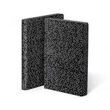 Notitieboek A5 - Pixel (Analog), zacht leer, witte print_