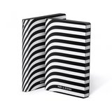 Notitieboek A5 - Pret-A-Ecrire, zacht leer, witte print_