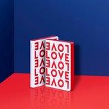 Notitieboek A6 - Love, zacht leer, rode tekst_