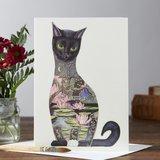 Wenskaart - zwarte kat_