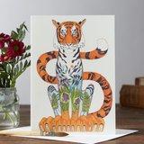 Wenskaart - tijger_