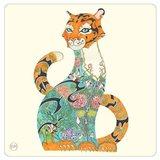 Onderzetter - tijger in de jungle_