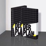 Notitieboek A5 - Der Plan, zacht leer, zwart-witte print_