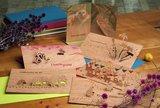 Houten kaart pop-up - kerst in het woud_