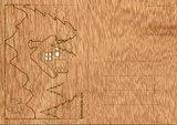 Houten kaart - winter landschap_
