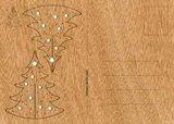 Houten kaart - zilverspar_