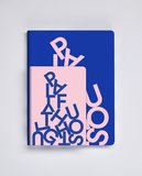 Notitieboek A6 - Playful Thoughts, zacht leer_