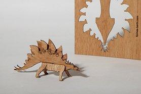 Houten kaart - stegosaurus