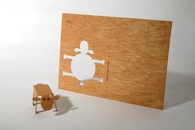 Houten kaart - schaap