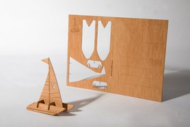 Houten kaart - catamaran