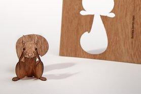 Houten kaart - eekhoorn