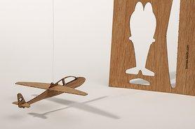 Houten kaart - vliegtuig