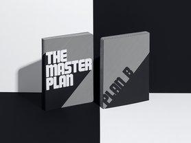 Notitieboek A5 - The Master Plan, zacht leer, witte tekst