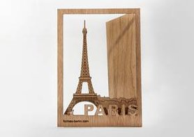 Houten kaart - Parijs