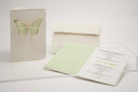 Handgeschept papier - vlinder