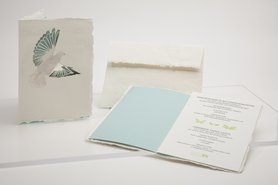 Handgeschept papier - duif