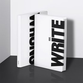 Notitieboek A5 - Write - Wrong, zacht leer, zwarte tekst