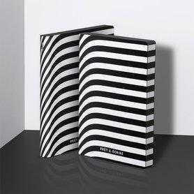 Notitieboek A5 - Pret-A-Ecrire, zacht leer, witte print