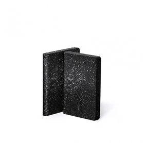 Notitieboek A6 - Milky Way, zacht leer, zilver metallic tekst
