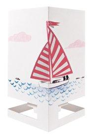 Wenskaart theelicht boot