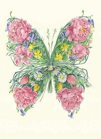 Wenskaart - vlinder