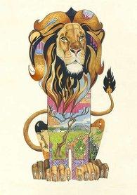 Wenskaart - leeuw
