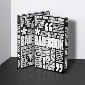 Notitieboek A5 - Bad Book, zacht leer, witte tekst