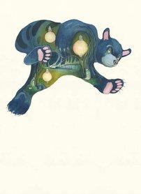 Wenskaart - vallende beer 1