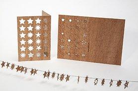 Houten kaart - 24 sterren