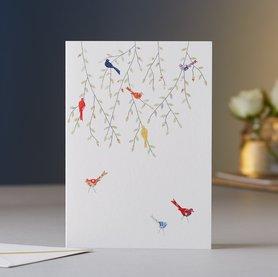 Wenskaart Birds in the Tree
