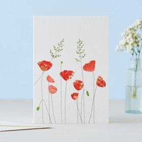 Wenskaart Poppies & Grass