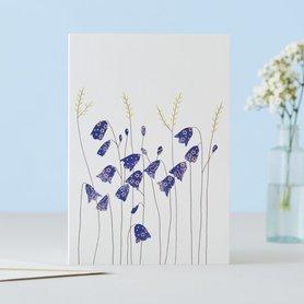 Wenskaart Harebells & Grass