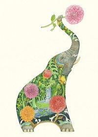 Wenskaart - olifant