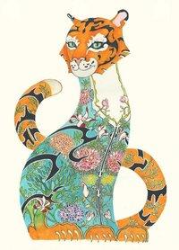 Wenskaart - tijger in de jungle