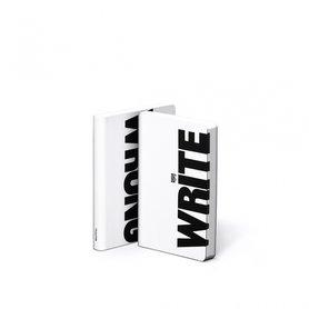 Notitieboek A6 - Write-Wrong, zacht leer, zwarte tekst