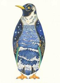 Wenskaart - pinguin