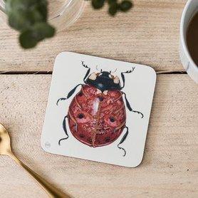 Onderzetter - lieveheersbeestje