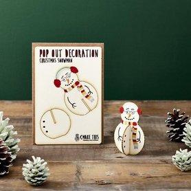 Kerst Sneeuwpop staand