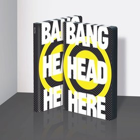 Notitieboek A5 - Bang Head Here, zacht leer