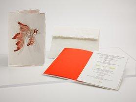 Handgeschept papier - vis