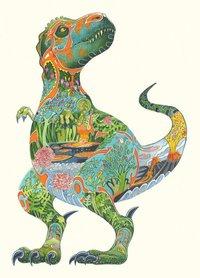 Wenskaart - T-rex