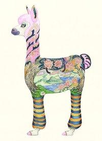 Wenskaart - alpaca