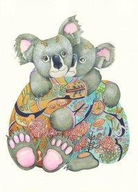 Wenskaart - knuffelende koala's