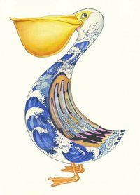 Wenskaart - pelikaan