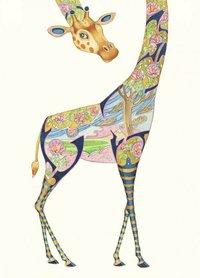 Wenskaart - giraffe
