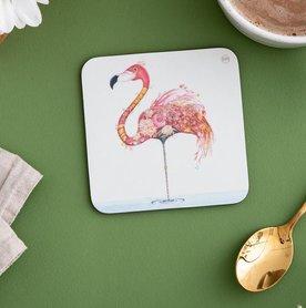 Onderzetter - flamingo