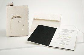 Handgeschept papier - tarwe halm