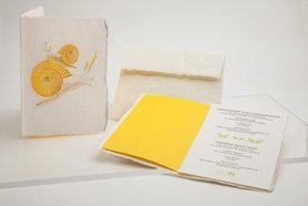 Handgeschept papier - slak