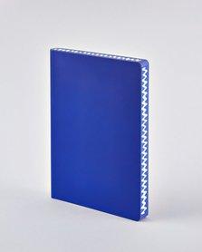 Notitieboek A5 - Into the Blue, zacht leer, witte print
